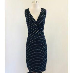 Loft Size S striped Sleeveless Dress